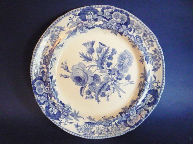 Fine Spode Union Spray Pattern Dinner Plate c1825