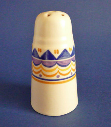 Rare Poole Pottery Qo Pattern Sugar Sifter After James