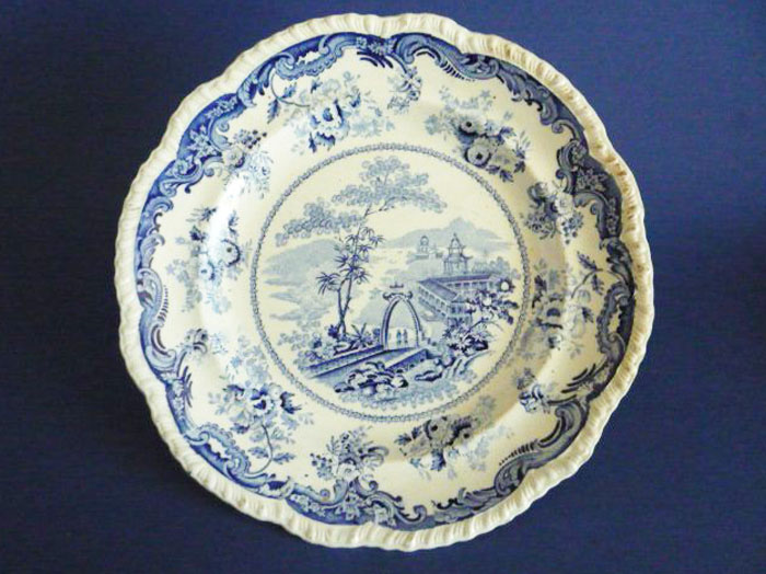 Bell Vue Pottery Chinese Marine Opaque China Dinner Plate ...