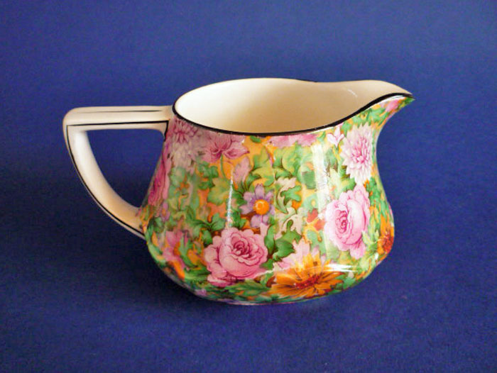 Crown Ducal Pink Chintz Jug C1930
