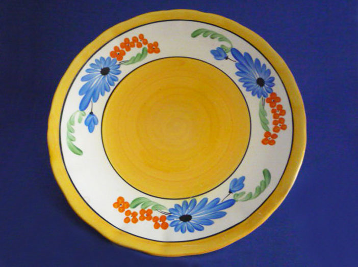 Early Clarice Cliff Bizarre Sandflower Inch Plate