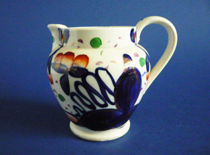 early victorian gaudy welsh oyster pattern pottery jug c1840 1962 p - Is a Victorian Engagement or Wedding Ring Right For You