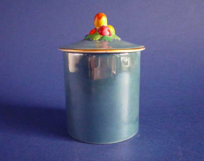 What Is Mother Of Pearl >> Fine Carlton Ware Light Blue Lustre Fruit Small Preserve Pot c1930