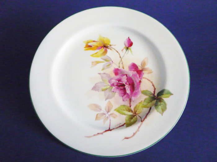 hand painted royal worcester cabinet plate roses by