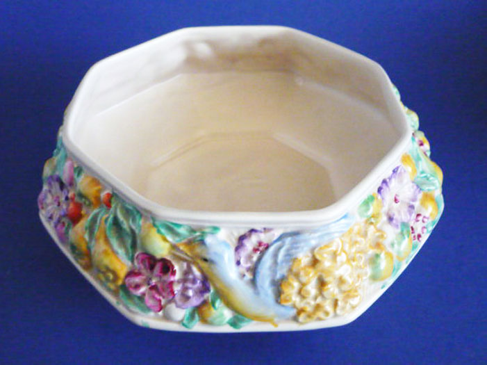 Lovely Clarice Cliff Newport Pottery Bird And Flower Fruit
