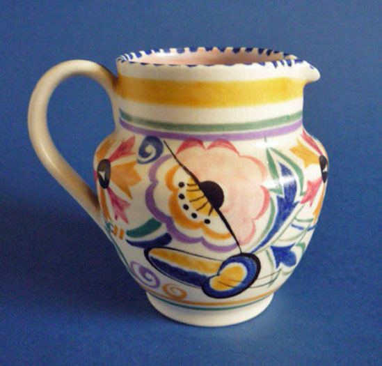 Poole Pottery Fl Pattern Jug By Truda Carter C1935