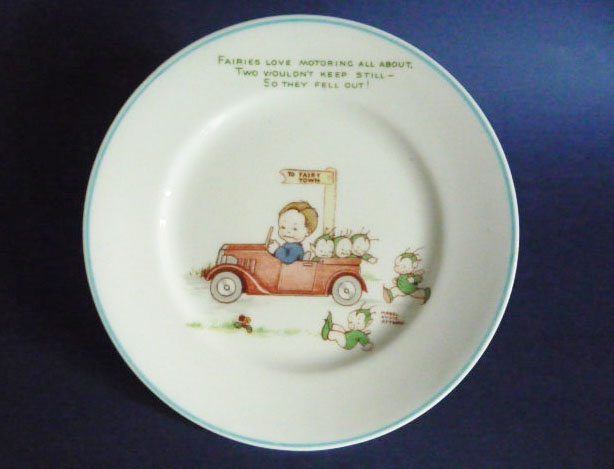 Rare Shelley Mabel Lucie Attwell Fairies Love Motoring