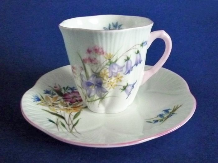 Shelley Fine Bone China Wild Flowers Pattern 13668 Dainty ...