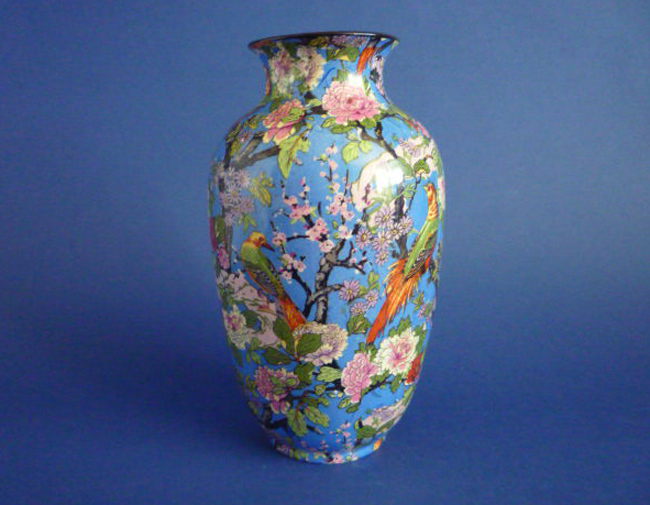 Stunning Crown Ducal Blue Chintz Vase C1925 Sold
