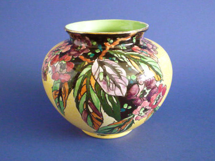 Stunning Grimwades Royal Winton Blossom Bough Claudine Art Deco Vase C1939 Sold