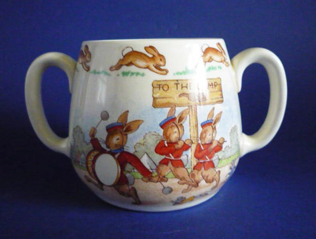Vintage Royal Doulton Bunnykins Military Band Two Handled