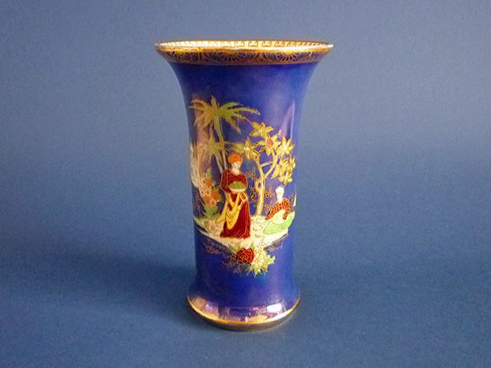 Mother Of Pearl >> Wiltshaw and Robinson Carlton Ware Blue Lustre Persian Vase c1920